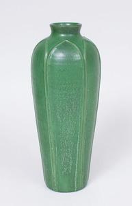 EPHRAIM GREEN GLAZED POTTERY VASE