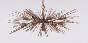 FELDMAN CO. WELDED STEEL CHANDELIER