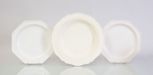 MONTEREAU FAIENCE CREAMWARE PART DINNER SERVICE