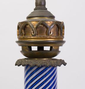 GILT-METAL-MOUNTED MURANO GLASS LAMP