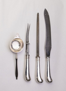 S. KIRK & SON SILVER THIRTY-FIVE-PIECE PART FLATWARE SERVICE AND A STIEFF SILVER TWENTY-PIECE PART FLATWARE SERVICE