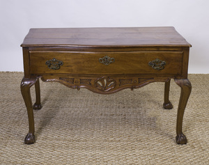 COLONIAL PORTUGUESE MAHOGANY CONSOLE TABLE