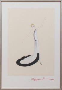 MADAME YNA MAJESKA (HENRIETTE STERN) (d. 2006): THREE FASHION ILLUSTRATIONS