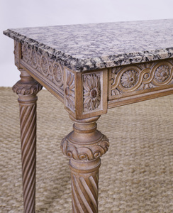 LOUIS XVI STYLE PICKLED WOOD CONSOLE