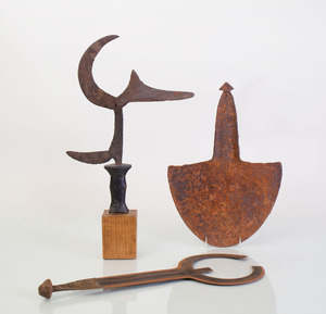 THREE ETHNOGRAPHIC METAL OBJECTS