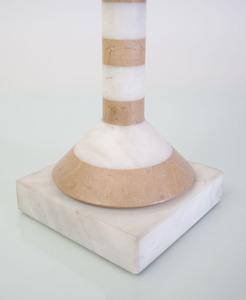 MODERN HARDSTONE STRIPED LAMP, DESIGNED BY JEREMIAH GOODMAN