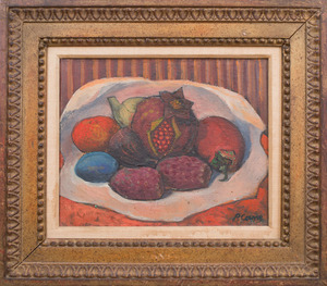 20TH CENTURY SCHOOL: STILL LIFE WITH POMEGRANATES