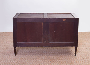LOUIS XVI STYLE BRONZE-MOUNTED MAHOGANY COMMODE