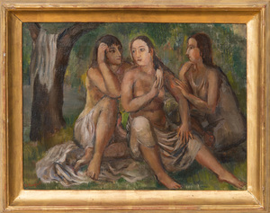 BERNARD KARFIOL (1886-1952): THREE YOUNG WOMEN