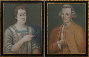 EUROPEAN SCHOOL: A PAIR OF PORTRAITS