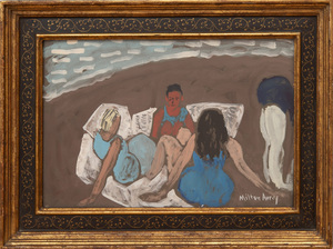 MILTON AVERY (1885-1965): BEACH PARTY