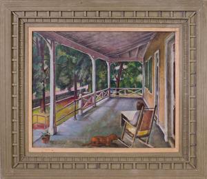 JOSEPH PLAVCAN (1908-1981): THE FRONT PORCH