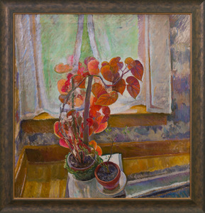 ATTRIBUTED TO JOSEPH PLAVCAN (1908-1981): STILL LIFE BEFORE AN OPEN WINDOW
