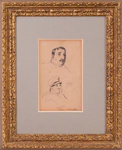 ATTRIBUTED TO GEORGE LUKS (1867-1933): HEAD STUDIES