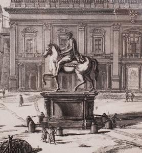 GIOVANNI BATTISTA PIRANESI (1758-1810): VEDUTA DELLA PIAZZA DEL CAMPIDOGLIO, FROM VEDUTE DI ROMA (VIEWS OF ROME)