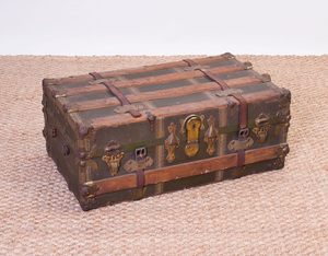 Metal-Mounted Canvas Trunk