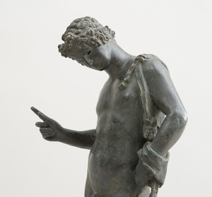 ITALIAN HOLLOW-CAST BRONZE FIGURE OF ADONIS, AFTER THE ANTIQUE