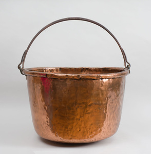 Large Hammered-Copper Cauldron