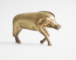GERMAN GILT-BRONZE MODEL OF A BOAR