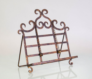 RUSTIC METAL BOOK STAND