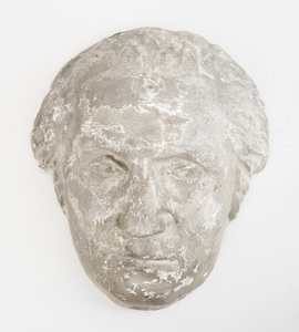 Hollow-Cast Plaster Half-Rounded Head of George Washington
