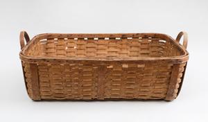 American Woven Splint Two-Handled Rectangular Basket