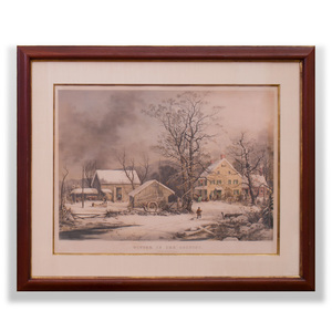 Currier & Ives, Publishers: Winter in the Country, a Cold Morning