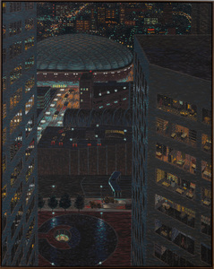 YVONNE JACQUETTE (b. 1934): DOWNTOWN MINNEAPOLIS WITH HUBERT HUMPHREY METRODOME II