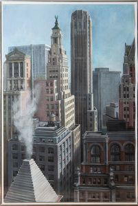 RICHARD HAAS (b. 1936): VIEW OF MANHATTAN