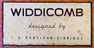 T.H. ROBSJOHN-GIBBINGS MAHOGANY CIRCULAR TABLE FOR WIDDICOMB