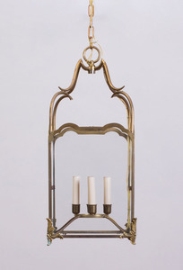 LOUIS XV STYLE GILT-METAL AND BRASS FOUR-LIGHT LANTERN