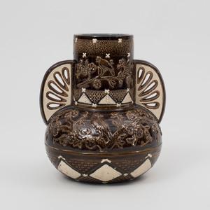 Aesthetic Movement Glazed Porcelain Vase