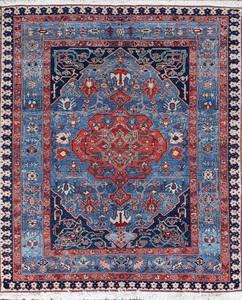 Modern Medallion Carpet in the Persian Design