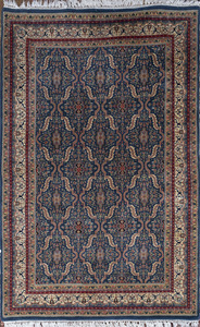 Small Persian Blue Ground Carpet, of Recent Manufacture