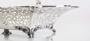 Reed & Barton Silver Basket, a Gorham Silver Shaped Square Dish, and a Black Starr & Frost Compote