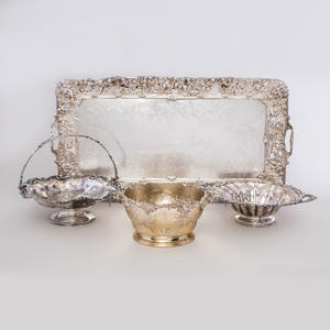 Group of Four Silver Plate Table Wares