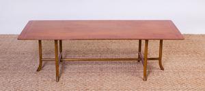 T.H. ROBSJOHN-GIBBINGS BLEACHED WALNUT COFFEE TABLE FOR WIDDICOMB