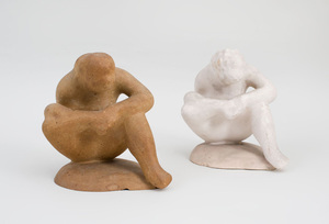 ELIE NADELMAN (1882-1946): SEATED FIGURE AS SPINARIO: A PAIR