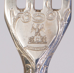 GEORGE VI SILVER FRUIT SERVICE FOR EIGHTEEN REPOUSSÉ WITH GRAPEVINES