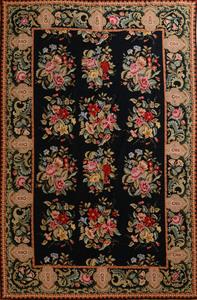 Needlework Black Ground Carpet