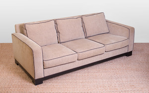 UPHOLSTERED THREE-SEAT SOFA