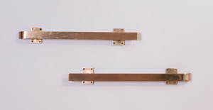 PAIR OF BRASS DOOR HANDLES