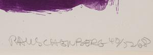 ROBERT RAUSCHENBERG (1925-2008): FLOWER RE-RUN, FROM REELS B + C