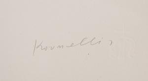 JANNIS KOUNELLIS (b. 1936): LO FARO IL LETTERATO, TUTTA LA VITA