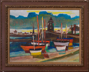 ISAAC PAILES (1895-1978): LE PORT TRANQUILLE