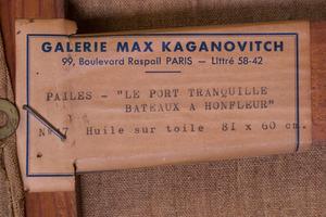 ISAAC PAILES (1895-1978): LE PORT TRANQUILLE