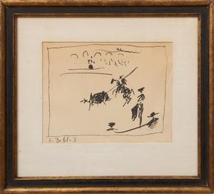 PABLO PICASSO (1881-1973): LA PIQUE; LES BANDERILLES; AND LE PICADOR II; FROM A LOS TOROS AVEC PICASSO
