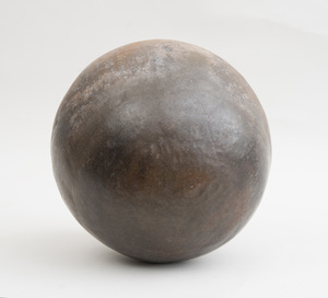 CONTEMPORARY AFRICAN POTTERY SPHERICAL HEATING VESSEL