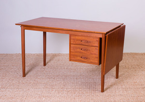 DANISH TEAK DROP-LEAF DESK