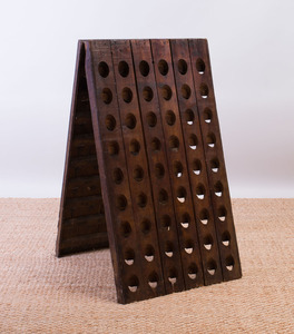 FRENCH PROVINCIAL OAK CHAMPAGNE RIDDLING RACK MADE FOR MOËT & CHANDON